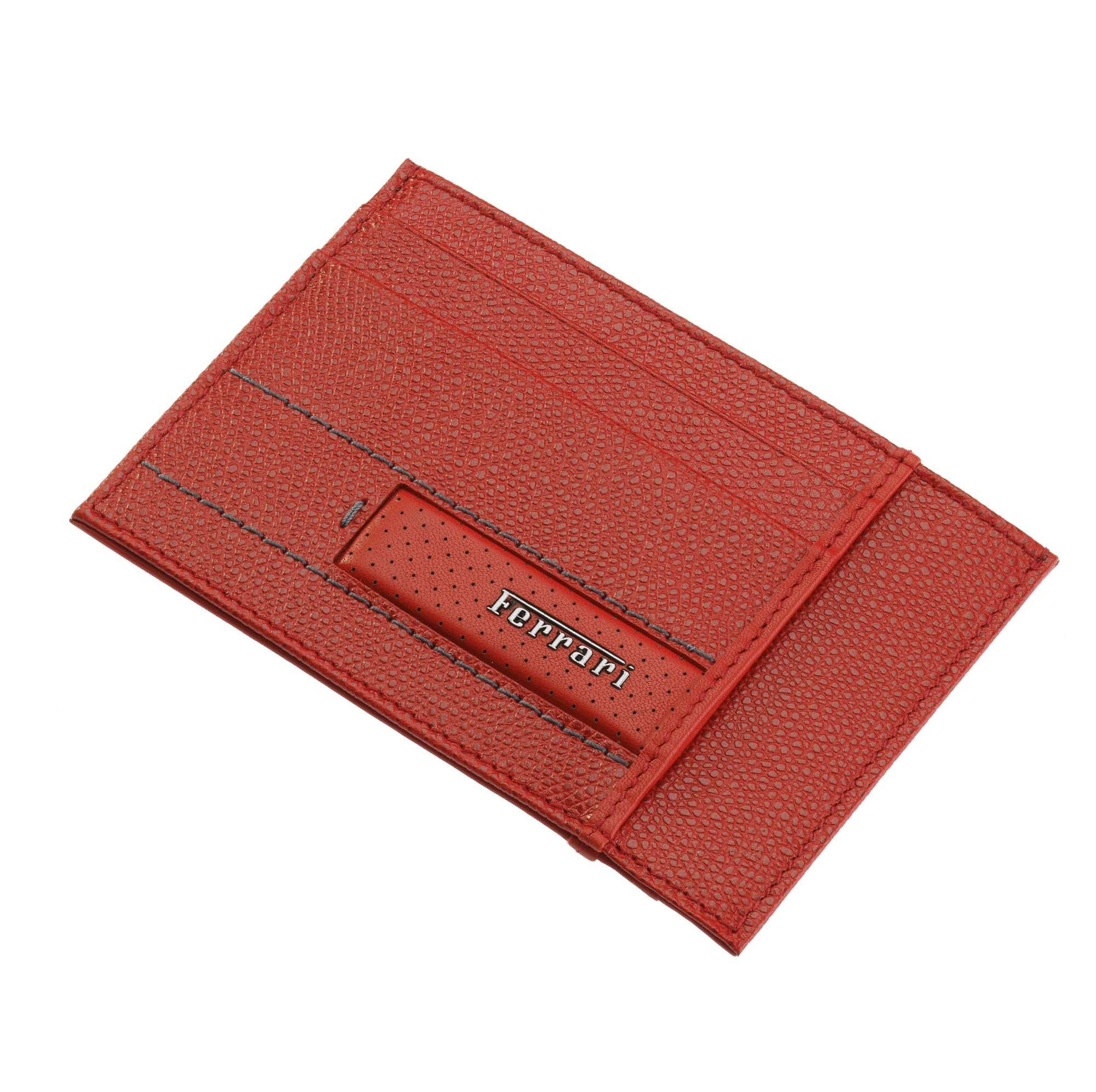 Men's Ferrari Cavallino Rampante Leather Wallet One size Dark Brown