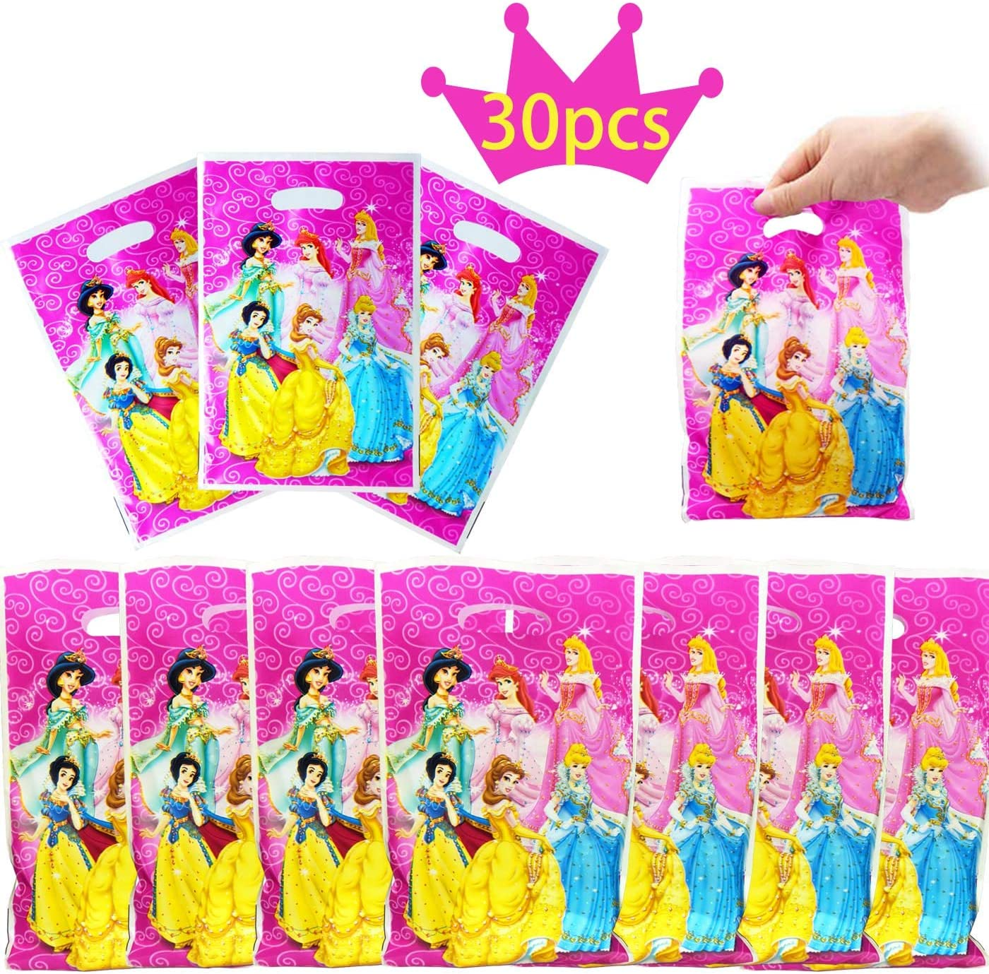 Princess Stickers x 6 Disney Princess Party Bag /& Loot Ideas Birthday Supplies