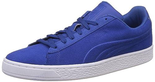 76233cf283e6 Puma Men s Suede Classic Embossed True Blue Sneakers - 10 UK India (44.5 EU