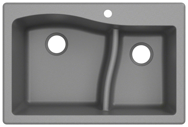 Kraus KGD-442GREY Granite Kitchen Sink 33-inch Grey