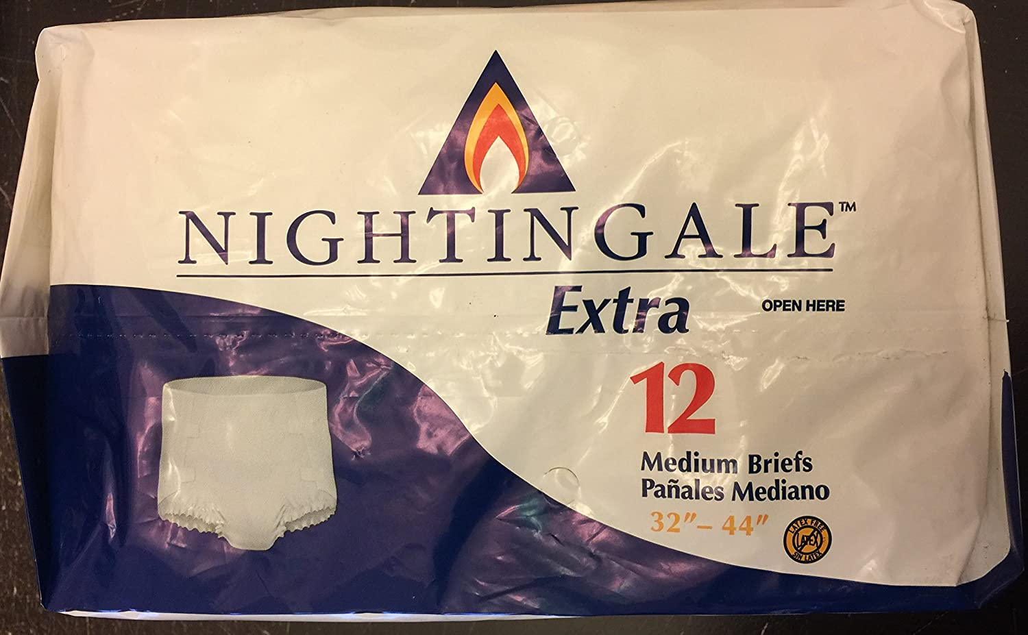 Amazon.com: Nightingale Extra Adult Briefs, Medium 32- 44 12 Each Bag: Health & Personal Care
