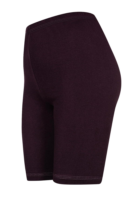 2 Stück DeDavide Damen Shorts aus Baumwolle, 16 verschiedene Farben