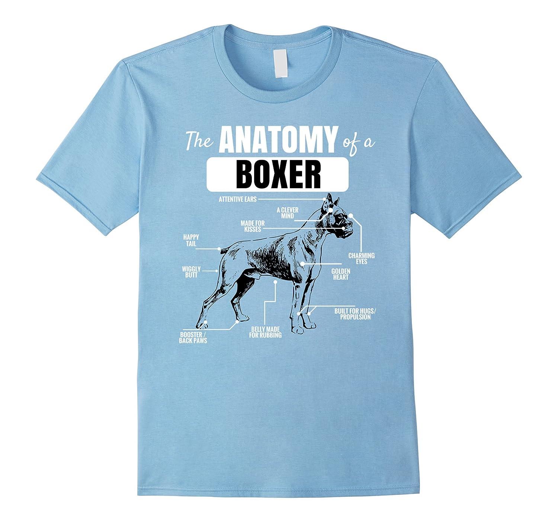 Anatomy of a Boxer T-Shirt Funny Dog Shirt-BN – Rateeshirt