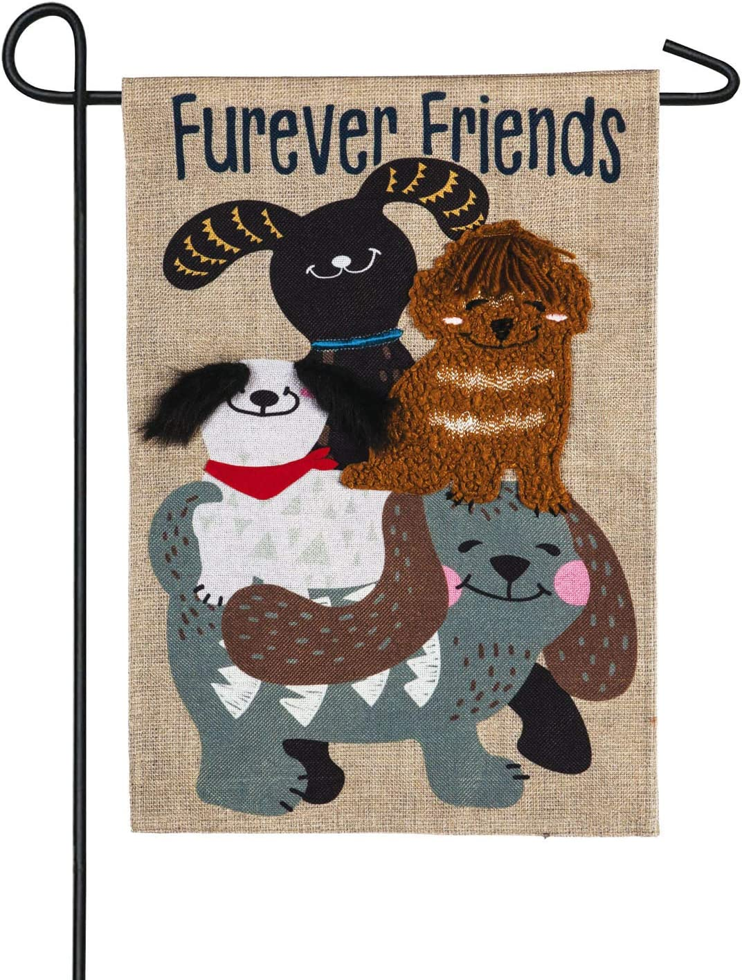 Furever Dog Friends Garden Burlap Flag - 13 x 1 x 18 Inches Dog Lovers Outdoor Décor for Canine Lovers of Gifts for Pet Lovers