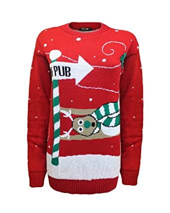 95d1ff6db5a0 New Unisex Men knitted To the Pub Women ladies Novelty Christmas ...