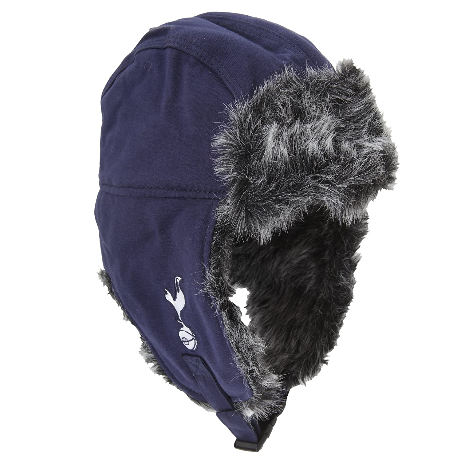 2f6a95609eaf2 Tottenham Hotspur FC Adults Official Football Crest Trapper Hat (One Size)  (Blue Grey)  Amazon.co.uk  Clothing