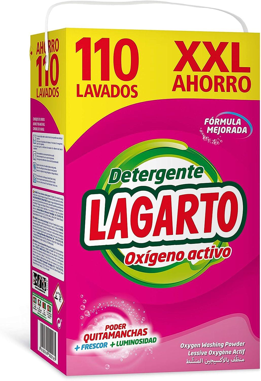 Lagarto Oxígeno Activo - Detergente 110 Lavados, 7150 g: Amazon.es ...