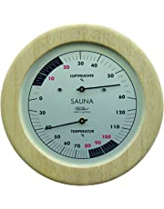 Sauna Thermometer & Hygrometer 155 mm - 196TH-03 (German Display, °C)