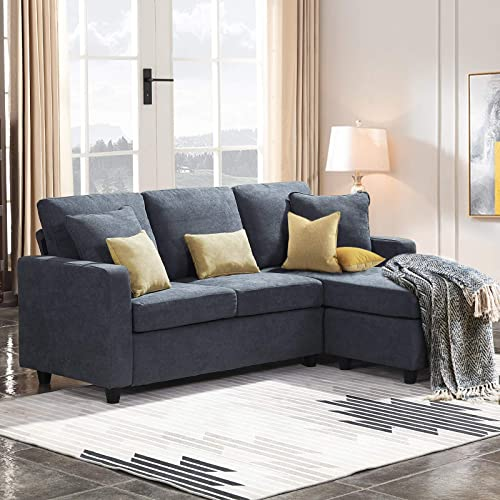 HONBAY Convertible Sectional Sofa Couch L Shaped Sofa Couch