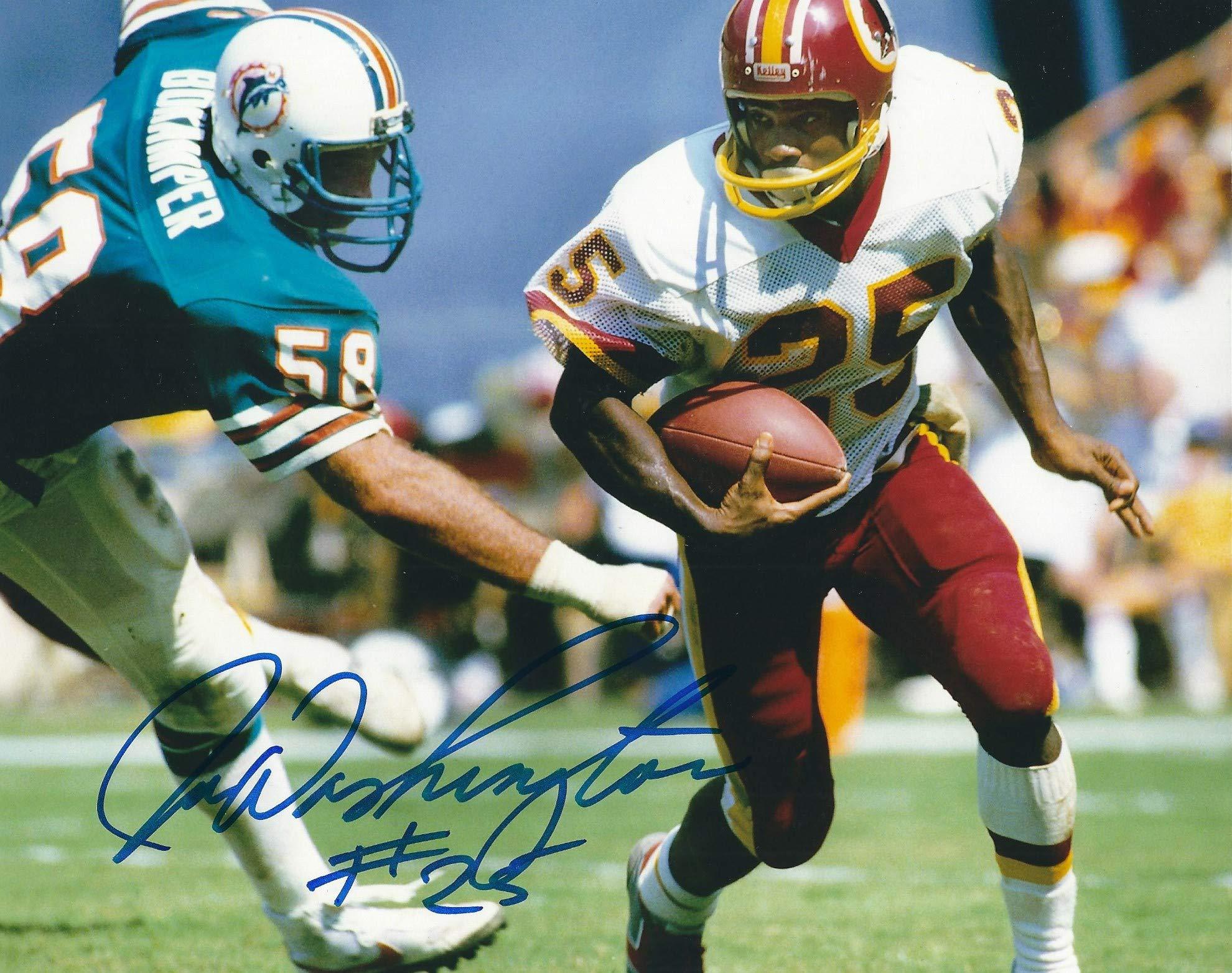 Autographed Joe Washington 8x10 Photo Washington Redskins