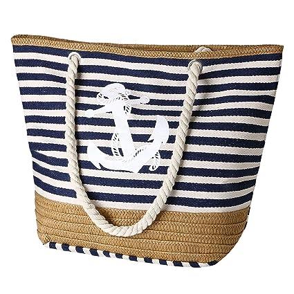 flintronic® Bolsa de Playa para Mujer, Totalizador de Lona de Verano, Bolso Grande con Asa de Cuerda para Playa, día de Fiesta, Compras, Viajes Diseño ...