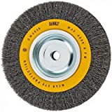 DEWALT Wire Wheel for Bench Grinder, Crimped Wire, 8-Inch (DW4906),Medium