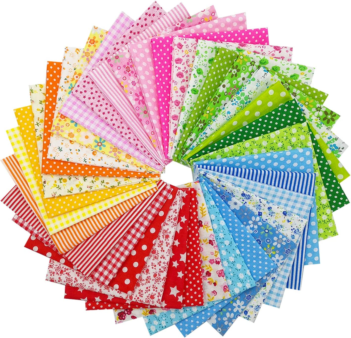 Cotton quilting sewing crafting batik 7 pack fat quarters quilt fabrics-FREE US SHIPPING!