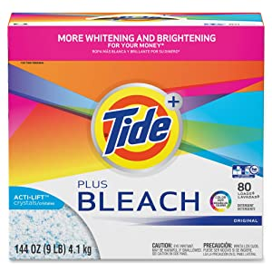 Tide Vivid Plus Bleach Detergent, White, Model: 84998CT
