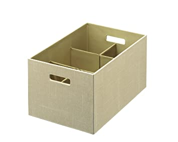 Exceptional Rubbermaid Bento Storage Box With Flex Dividers, Extra Large, Loose Linen  (1791949)