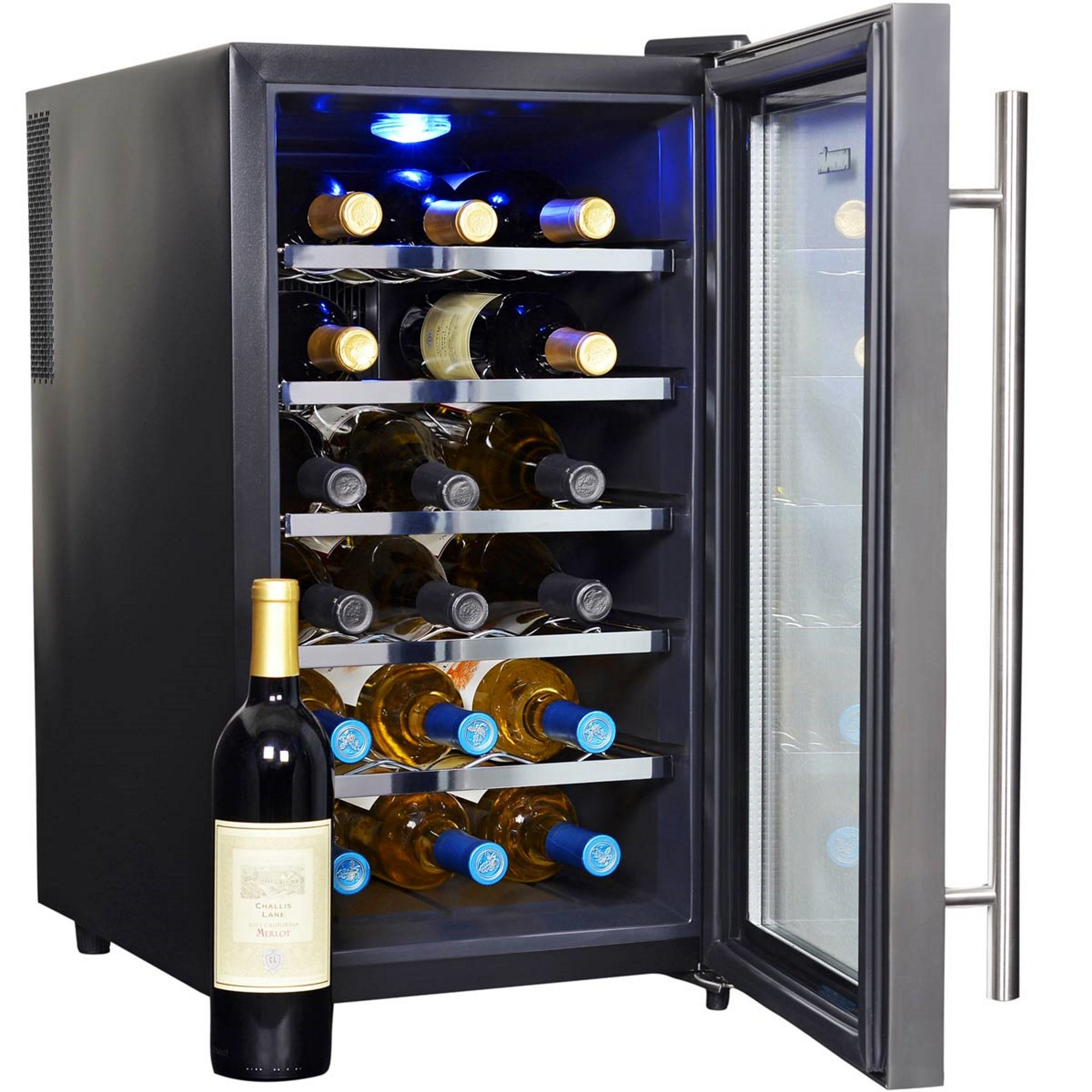 NewAir AW-181E 18 Bottle Thermoelectric Wine Cooler, Black by NewAir (Image #8)