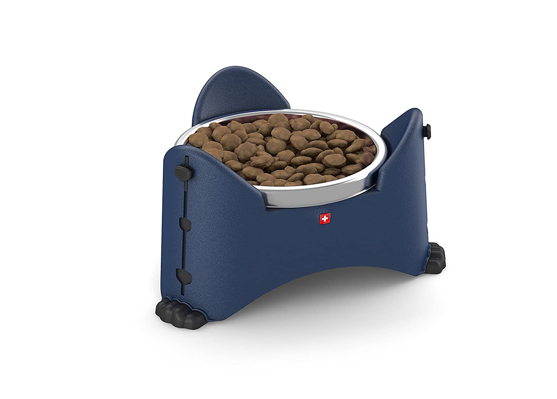 redho Mypet Adjustable Pet Bowl, 27.3 x 24 x 14.6 cm, bluee