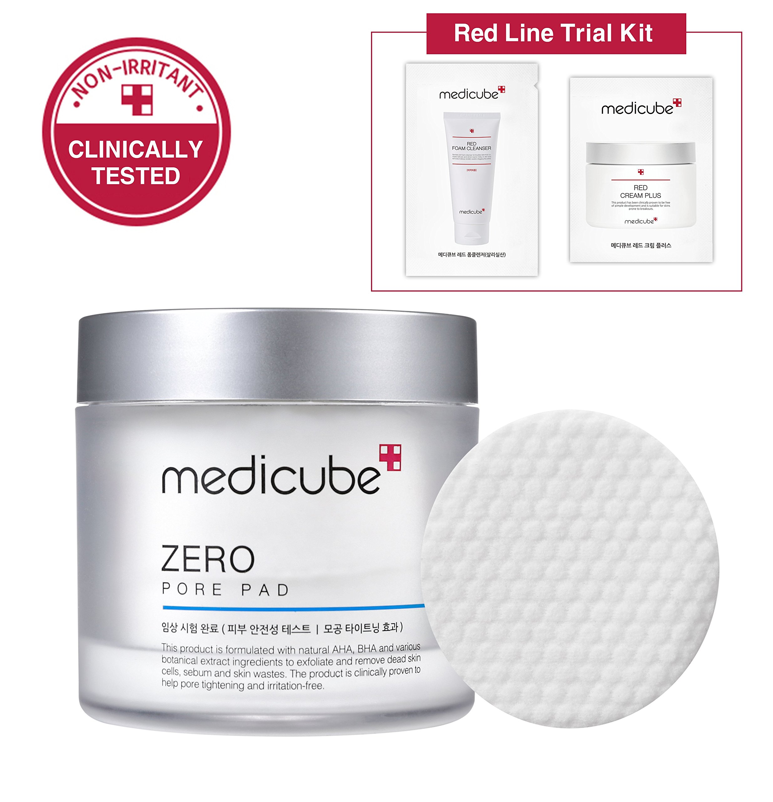 Medicube Zero Pore Pad and Red Line Trial Kit SET, 155 gle 5.47 oz. by Medicube