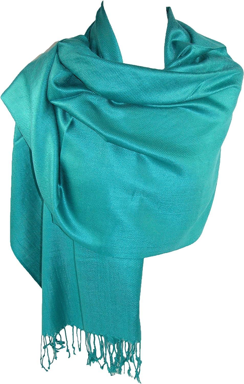 Dark Pink CTM/® Womens Classic Pashmina Shawl Wraps