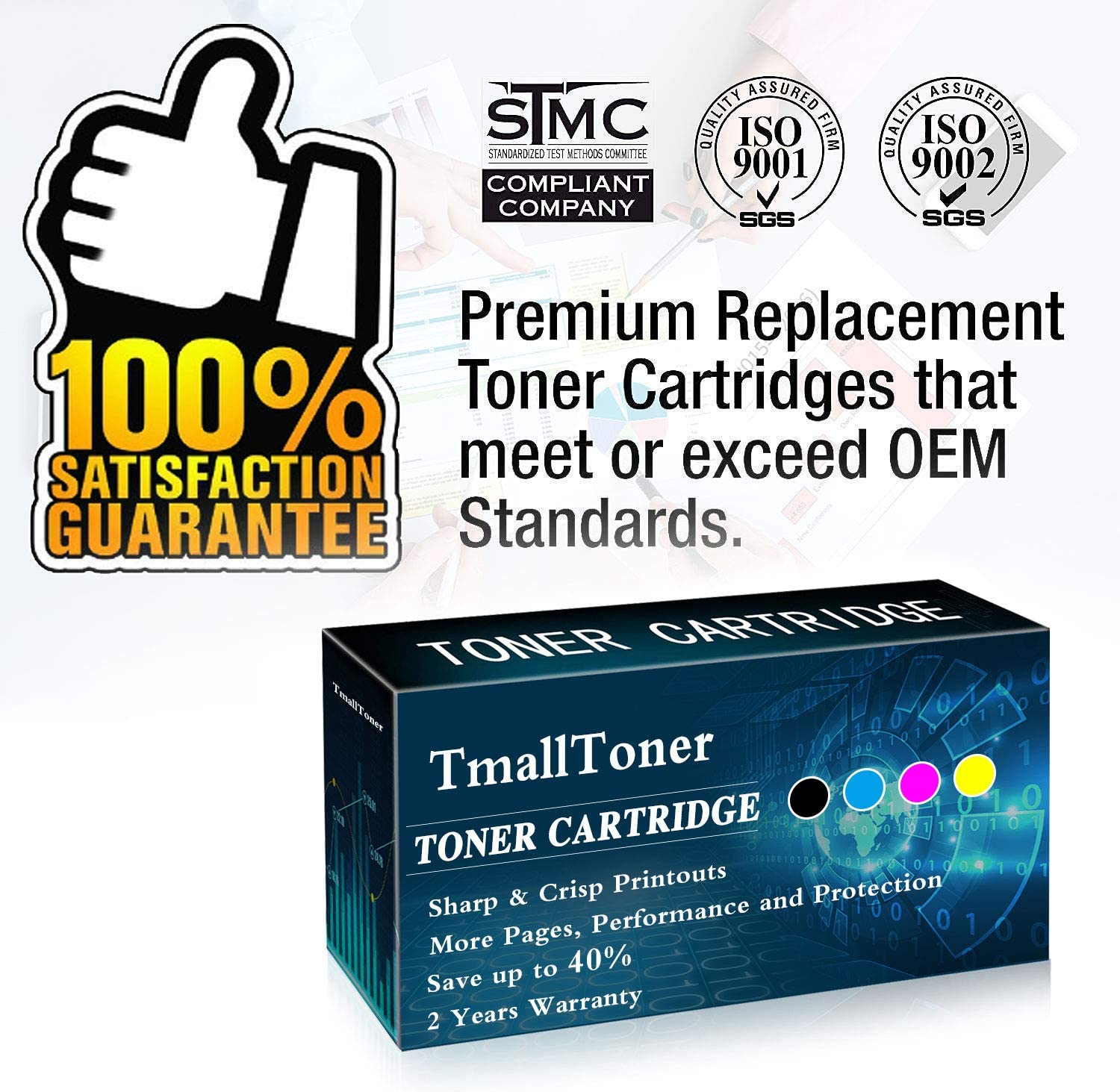2 Pack Black 305X Sold by TmallToner CE410X Remanufactured Toner Cartridge High Yield Compatible for HP M351a M451nw M451dn M451dw MFP M475dn M475dw M375nw Printers