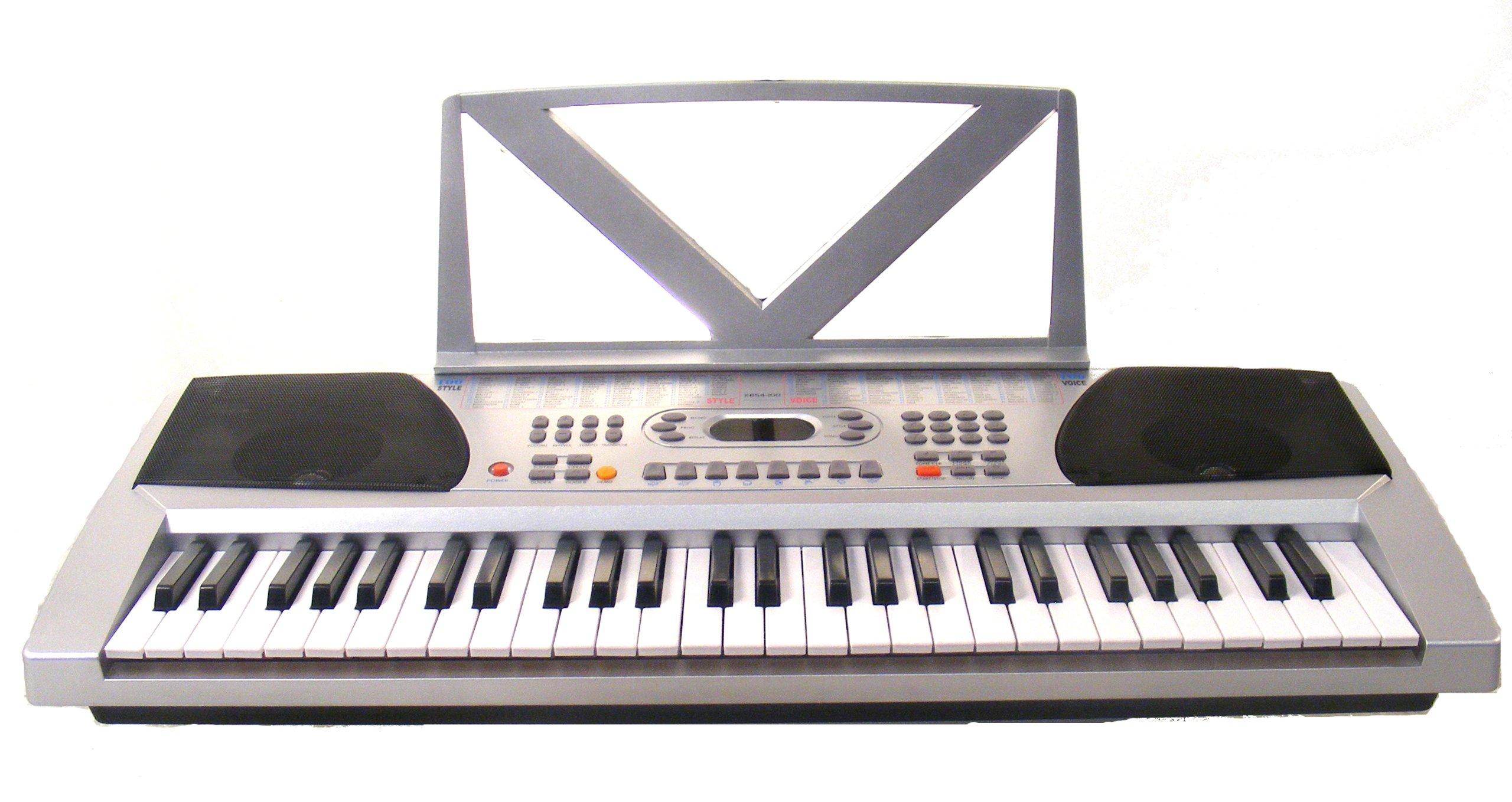 Huntington KB54-100 54-Key Portable Electronic Keyboard (Silver) by Huntington