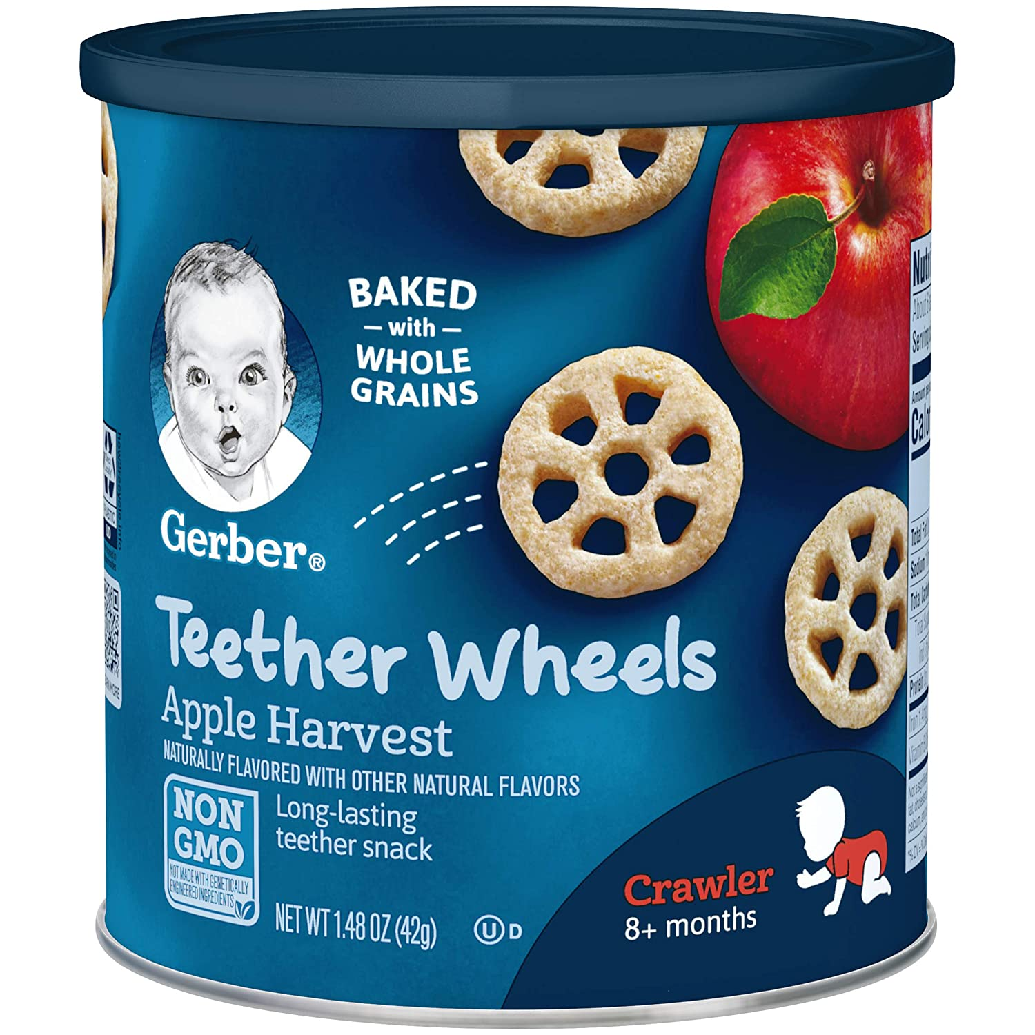 B000FPM22O Gerber Teether Wheels, Apple Harvest, 1.48 Ounce (Pack of 6) 81xU-KvyopL