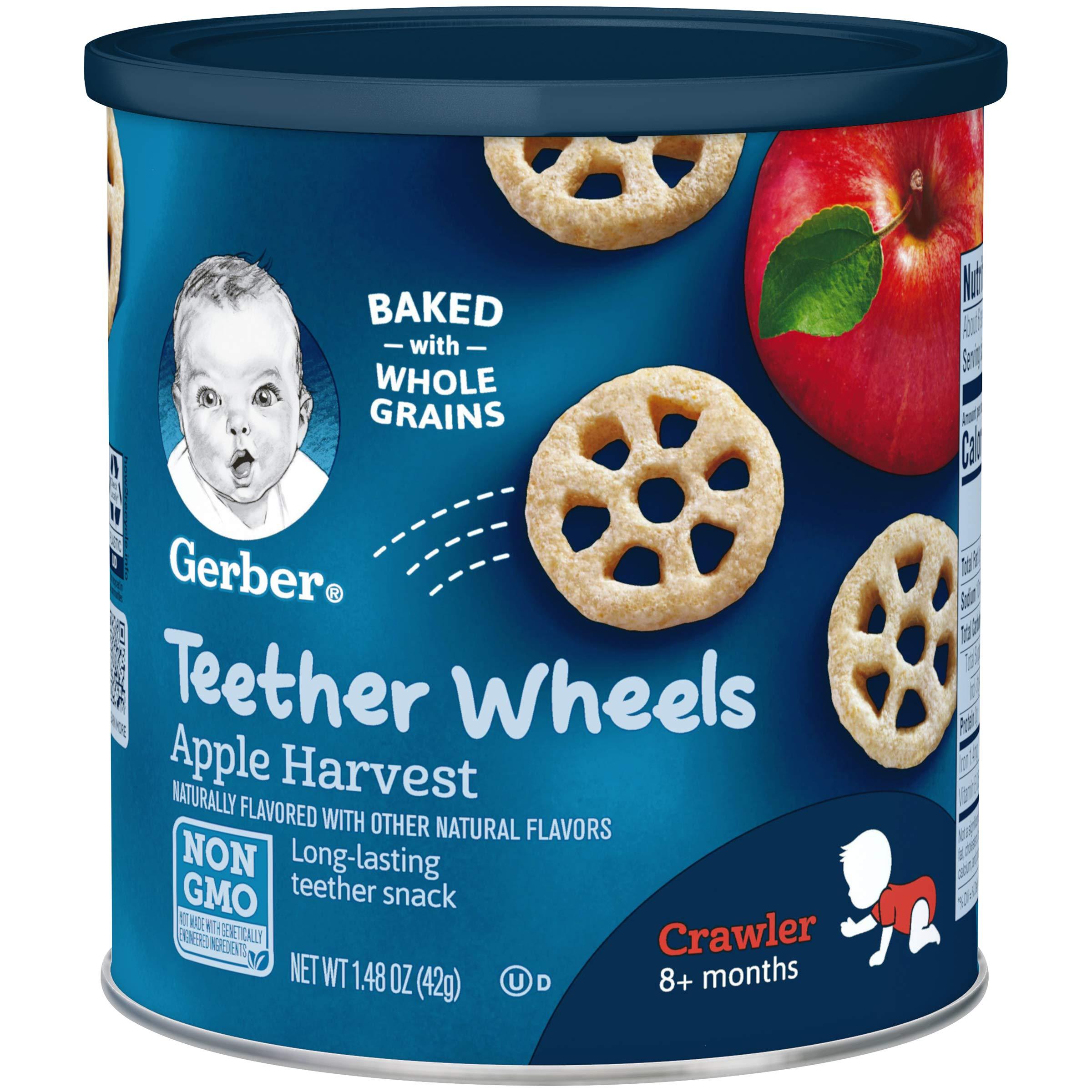 Gerber Teether Wheels, Apple Harvest, 1.48 Ounce (Pack of 6) by GERBER