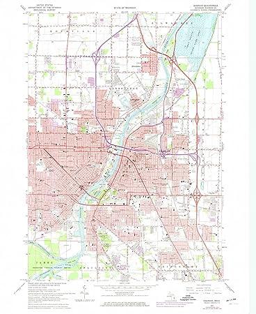 Amazon Com Yellowmaps Saginaw Mi Topo Map 1 24000 Scale 7 5 X