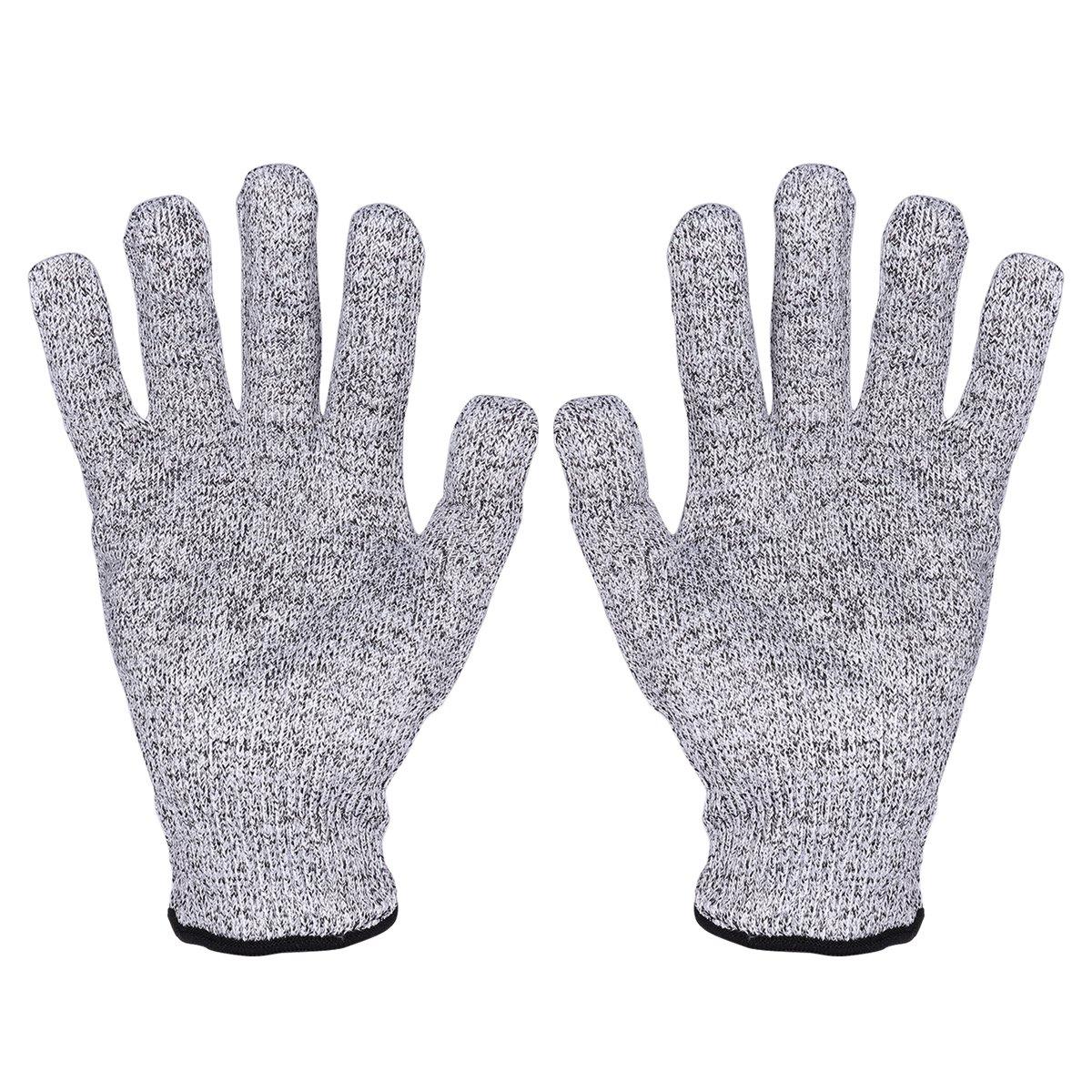 UEETEK Gants résistants à la coupe Gant de cuisine de protection de niveau 5 de haute performance pour la sécurité de la main tout en réduisant la cuisine.