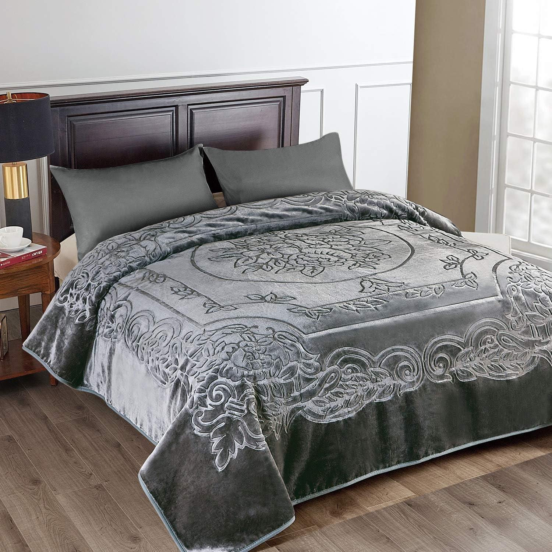 "Tiger Mink Heavy Blanket Thick Warm Winter King Size Blanket 85/""x93/"""