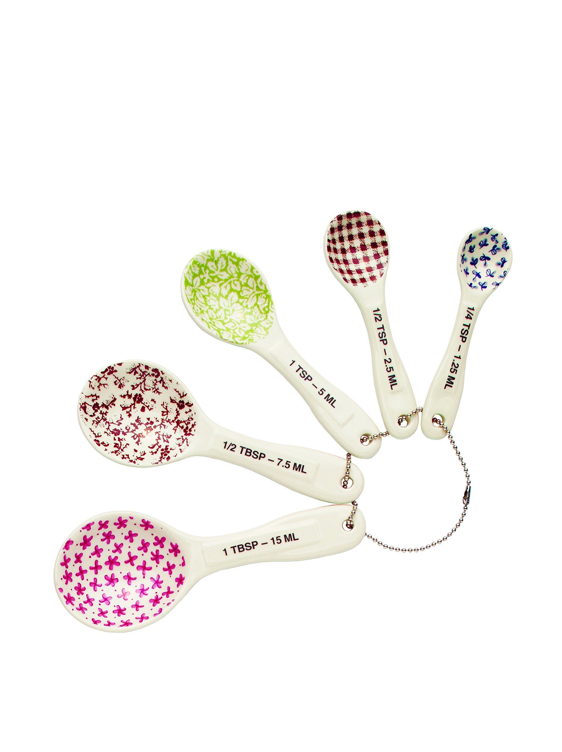 Rae Dunn Magenta 5 Piece Stoneware Measuring Spoon Set by Magenta
