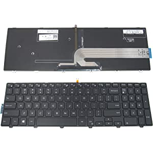 LeFix Replacement Backlit Keyboard (With Frame) for Dell Inspiron 15 3000 5000 3541 3542