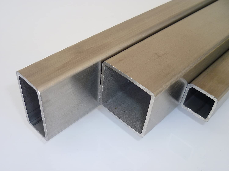 1,2 m Quadrat-Rohr 30x30 x2 EDELSTAHL K240 Vierkantrohr