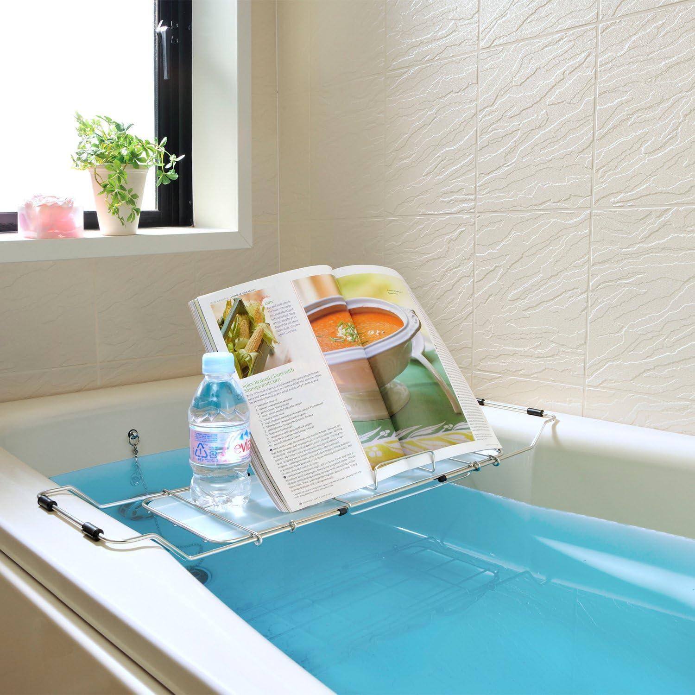 和平フレイズ バスグッズ バスブックスタンド お風呂 アメニック スライド式 52.5~75cm AR-4272 の画像