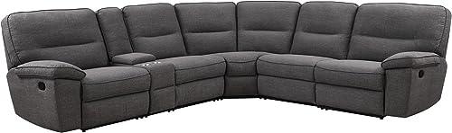 Emerald Home Furnishings Alberta modular reclining sectional Sofa Collection, Standard, Charcoal Gray