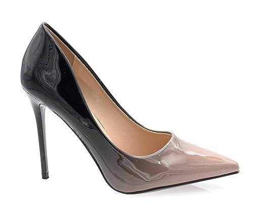 83b80e248931c Escarpin Femme Vernis - Chaussure Escarpin Dégradées Talon Fin - Talon  Aiguille Haut Sexy 11CM Multicolore - Chic Tendance  Amazon.fr  Chaussures  et Sacs