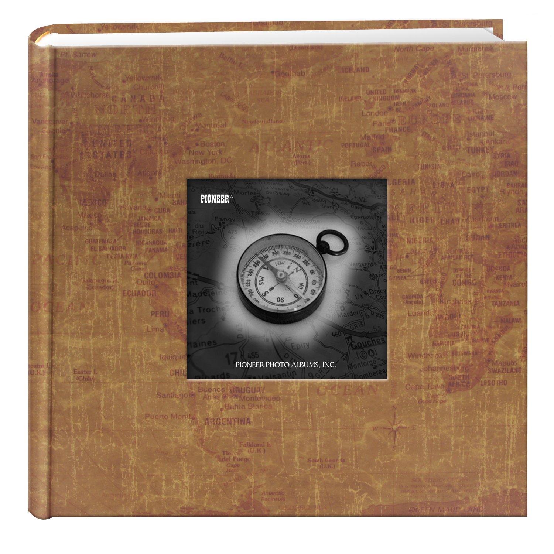 Pioneer Photo Albums DA-200MAP/WM 200-Pocket Photo Album with Printed Travel Design Cover, World Maps