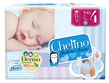 PAÑAL CHELINO LOVE T4 34 UNI (9-15 KG)