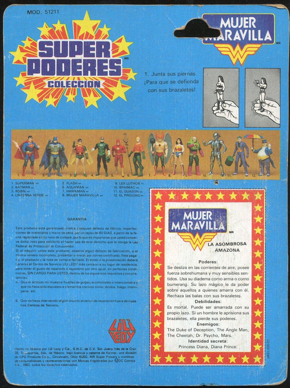Amazon.com: Super Powers Lili Ledy Wonder Woman Backer Card Comic Rare: Entertainment Collectibles