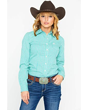 5ef0992f Cinch Women's Gingham Plaid Button Long Sleeve Western Shirt at ...