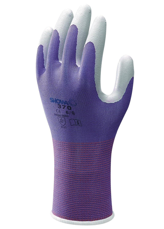Size Showa Floreo 370 Lightweight Gardening Gloves Colour Large Purple