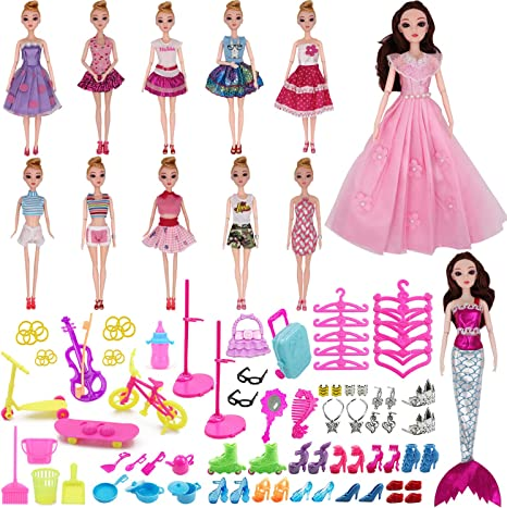 2 Pcs Set Fashion Doll Clothes Outfit Top+skirt for 11.5 in Doll #10