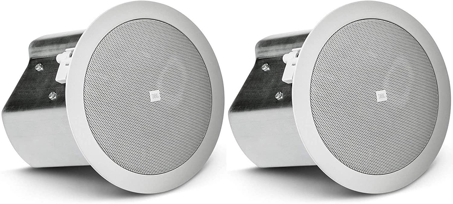 JBL Professional Control 14C/T Two-Way 4-Inch Coaxial Ceiling Loudspeaker, White, Sold as Pair