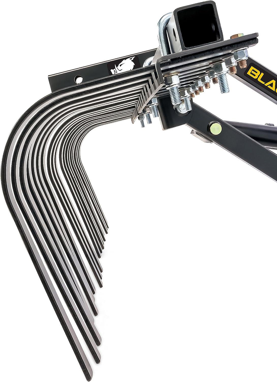 66007 Black Boar ATV//UTV S-Tine Cultivator for New Ground Preparation or Re-tilling