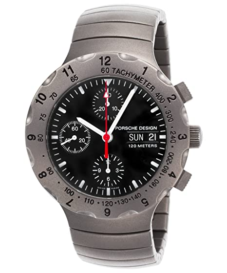 Porsche Design 6500 - 10 - 40-gb01 - 62 Fra reloj Titan titanio negro Dial Cronógrafo Automático para hombres: Amazon.es: Relojes