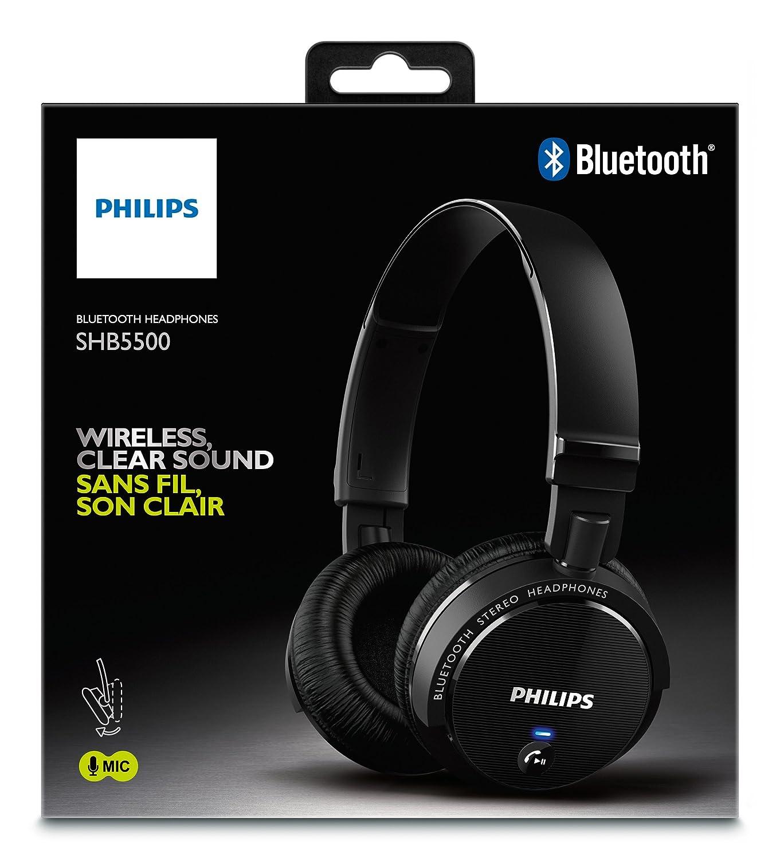 Philips SHB5500BK 00 Wireless Bluetooth Headphone  Amazon.co.uk  Electronics 966da133df