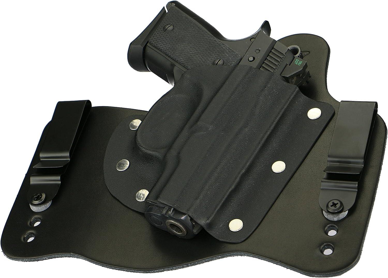 FoxX Leather /& Kydex IWB Hybrid Holster CZ 2075 Rami Natural//Tan Right Tuckable