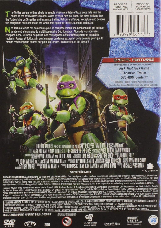 Amazon.com: Teenage Mutant Ninja: Turtles 2 - The Secret of ...