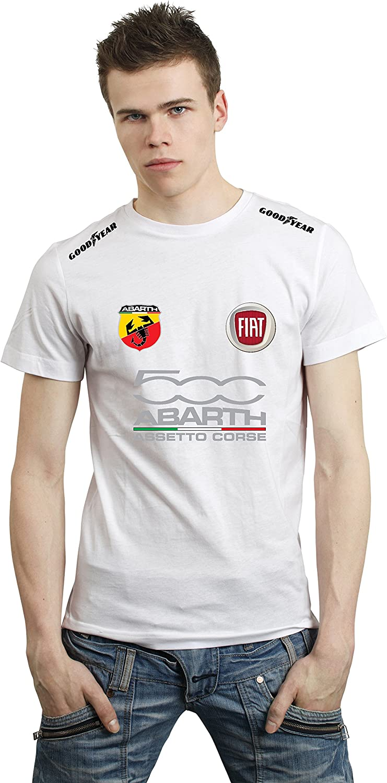 T-shirt Fiat 500 Abarth RACING 4 Custom white katanè italia (L ...