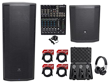"""d8db6006390 Image Unavailable. Image not available for. Color: JBL Pro PRX825W Dual 15  Powered Speaker+15"""" Subwoofer+Mixer+Headphones+("""